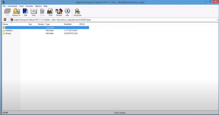 open data folder